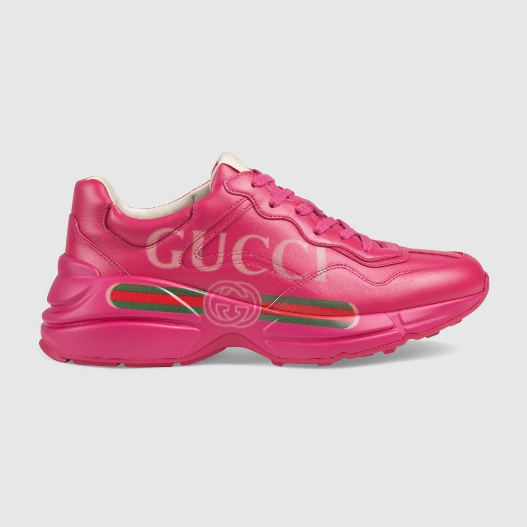 The Pink Rhyton Gucci Logo Sneakers