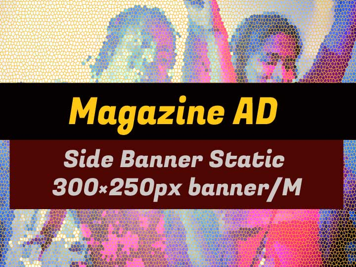 Media Kit Advertising Rate Side Banner for Morgeez Magazine per month